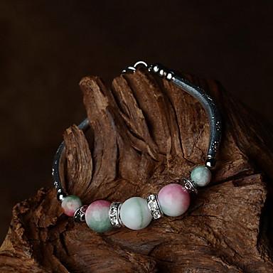 Naisten Strand Rannekorut Vintage Käsintehty Metalliseos Round Shape Pinkki Korut Varten Päivittäin Kausaliteetti 1kpl