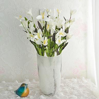 1pc 1 Afdeling Polyester / Plastik Liljer Bordblomst Kunstige blomster 19.6inch/50CM