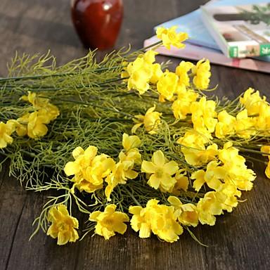 1 Afdeling Polyester Plastik Tusindfryd Bordblomst Kunstige blomster 64(25.19'')