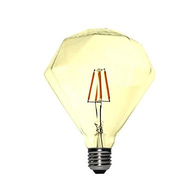 1pc 4 W 350 lm E26 / E27 Bombillas de Filamento LED G95 4 Cuentas LED COB Decorativa Blanco Cálido 220-240 V / 1 pieza / Cañas