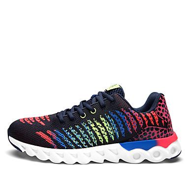 Sneakers-Tyl-Komfort-Herre-Sort Blå Marineblå-Udendørs Fritid Sport-Flad hæl