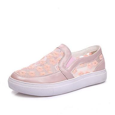 Damen-Flache Schuhe-Lässig-Kunststoff-Flacher Absatz-Flache Schuhe-Blau / Rosa / Weiß