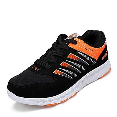 Sneakers-KunstlæderHerre-Blå Orange-Fritid-Flad hæl