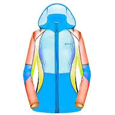 Mulheres Jaqueta de Trilha Prova-de-Água Secagem Rápida Resistente Raios Ultravioleta Respirável Blusas para Esportes Relaxantes