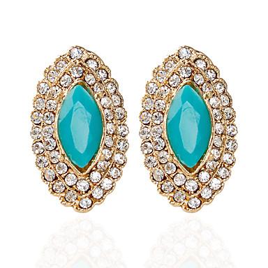 Dames 1 Druppel oorbellen Modieus Legering Ovaal Sieraden Bruiloft Feest Kostuum juwelen