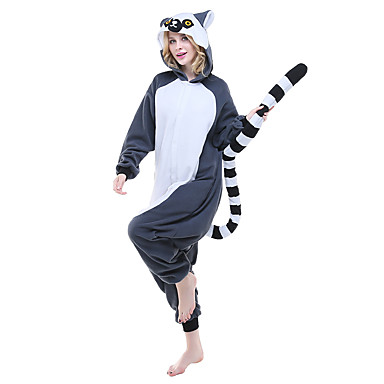36c74d8a06cd85 Dla dorosłych Piżama Kigurumi Lemur Zwierzę Piżama Onesie Polar Atramentowy  Cosplay Dla Mężczyźni i kobiety Animal