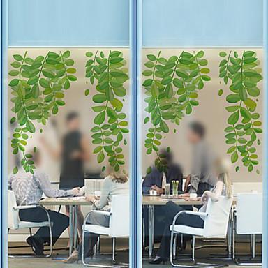 Árvores/Folhas Moderna Película para Vidros,PVC/Vinil Material Decoração de janela