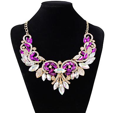 Damen Tropfen Gestalten Modisch Halsketten Diamantimitate Aleación Halsketten Hochzeit Party Modeschmuck