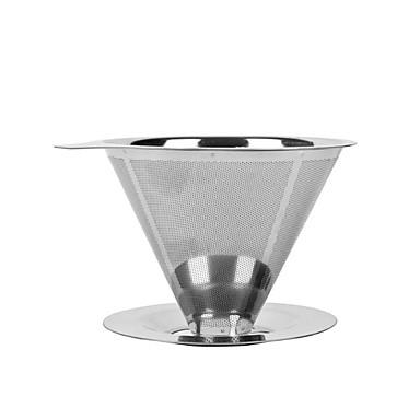 rustfrit stål hæld kaffe dripper genanvendelige dobbelt lag mesh-filter te infusionsenheden