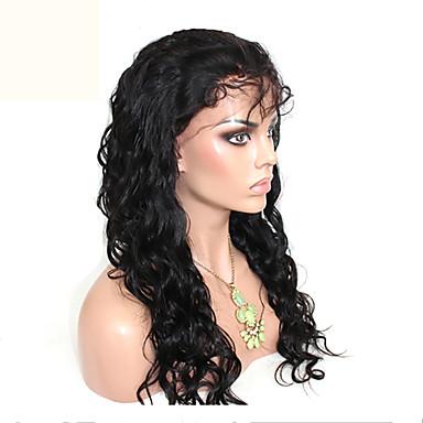 billige Blondeparykker med menneskehår-Ekte hår Ubehandlet Menneskehår Helblonder uten lim Helblonde Parykk stil Brasiliansk hår Krop Bølge Løse bølger Parykk 120% Hair Tetthet med baby hår Naturlig hårlinje Afroamerikansk parykk 100