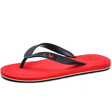 Sort / Brun / Gul / Grøn / Rød-Herresko-PU-Hverdag-Slippers & Flip-Flops