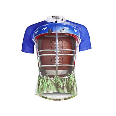 ILPALADINO Heren Korte mouw Wielrenshirt Fietsen Shirt, Sneldrogend, Ultra-Violetbestendig, Ademend, Zweetafvoerend, Reflecterende strips