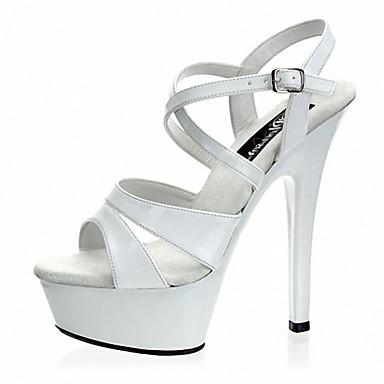 Dames Schoenen Lakleer Zomer Herfst Basispump Club Schoenen Oplichtende schoenen Hoge hakken Naaldhak Plateau Gesp voor Bruiloft Feesten