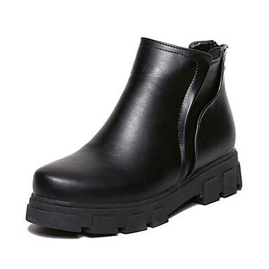 Støvler-Kunstlæder-Creepers / Ridestøvler-Dame-Sort-Udendørs-Platå