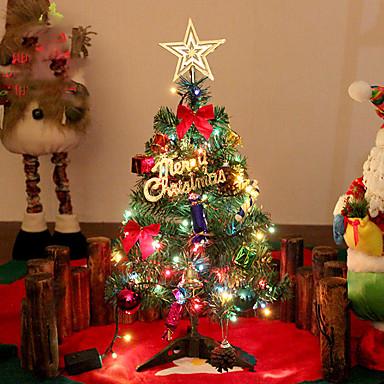 1pc førte julegave boligindretning mini juletræer natlys