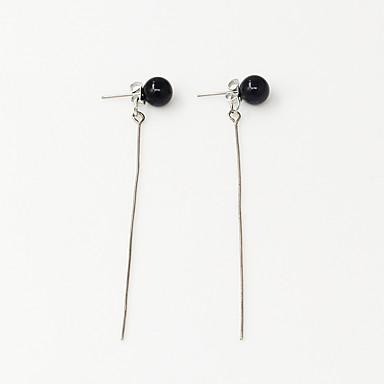 Earring Line Shape Smykker Dame Mote Bryllup / Party / Daglig / Avslappet / Sport Legering / Imitert Perle 1 par Gylden / Sølv
