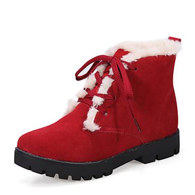 Sneakers-Læder-Komfort Flade balletsko-Dame-Sort Gul Rød-Udendørs Fritid Sport-Lav hæl