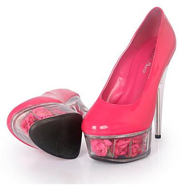 Mujer-Tacón Stiletto Plataforma Tacón de cristal-Plataforma Zapatos del club Light Up Zapatos-Tacones-Boda Vestido Fiesta y Noche-Cuero