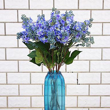 1 1 Tak Polyester / Kunststof Lavendel Bloemen voor op tafel Kunstbloemen 27.5inch/70cm
