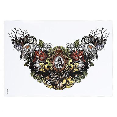 1 Tatuointitarrat Eläinsarja Non Toxic / Kuvio / Alaselkä / WaterproofNaisten / Miesten / Aikuinen Flash Tattoo väliaikaiset tatuoinnit