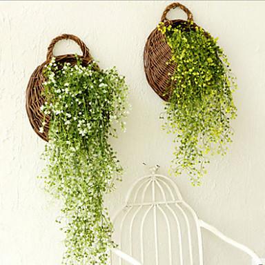 1 Tak Polyester Kunststof Planten mand met bloemen Kunstbloemen