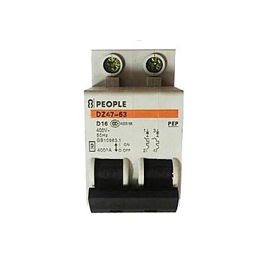 elektrische lekkage beschermer voor huishoudelijk stroomonderbreker lucht schakelaar dz47-2p / 16a