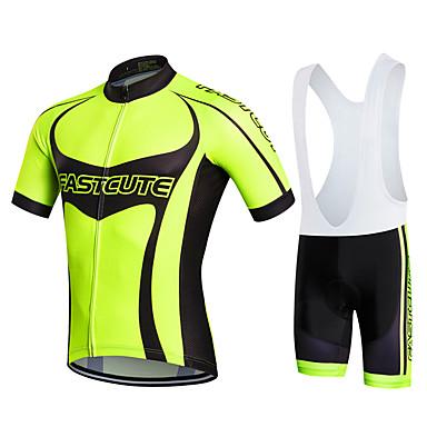 Fastcute Cykeltrøje og shorts med seler Herre Dame Børn Unisex Kortærmet Cykel Shorts med seler Sweatshirt Trøje Tights Med Seler Tøjsæt