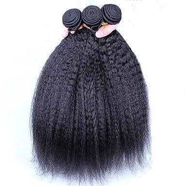 Menneskehår Vevet Brasiliansk hår Yaki 1 Deler hår vever