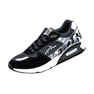 Homens sapatos Tule Primavera Outono Conforto Tênis Cadarço para Casual Vermelho Azul Preto/Vermelho Branco/Preto