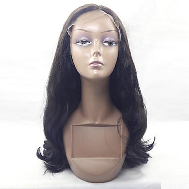 Syntetiske parykker Krop Bølge Blonde Front Sort paryk Syntetisk hår