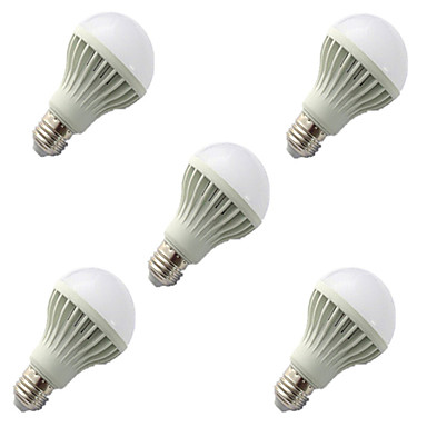 5pcs 9W e27 2835smd kühlen weißen Ton& Lichtkontrolllampe führte Smart-Lampen (220-240)