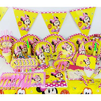 luksus minnie Baby 78pcs fødselsdagsfest dekorationer børn evnent part forsyninger party dekoration 6 mennesker bruger