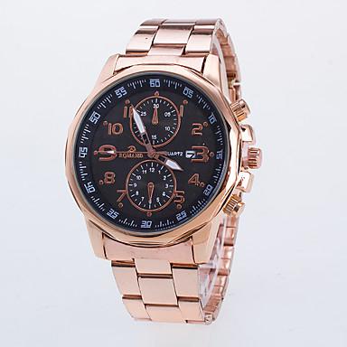 Herrn Armbanduhr Quartz Rose Gold überzogen Bandmaterial Rotgold Armbanduhren für den Alltag / Analog Freizeit Kleideruhr - Schwarz Blau