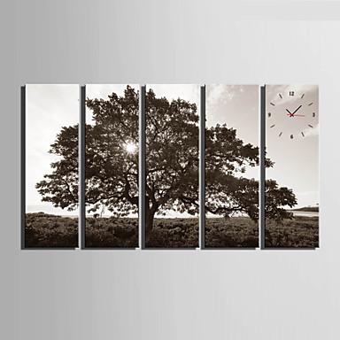 Modern/Hedendaags Anderen Wandklok,Rechthoekig Canvas 24 x 70cm(9inchx28inch)x5pcs/ 30 x 90cm(12inchx35inch)x5pcs Voor Binnen Klok