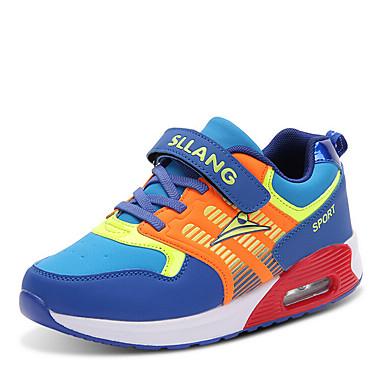 Sneakers-Kunstlæder-Komfort Rulleskøjtesko-Unisex-Sort Blå Orange-Udendørs Fritid Sport-Flad hæl