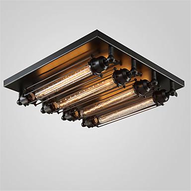 4-luz Montage de Flujo Luz Ambiente Acabados Pintados Metal Mini Estilo 110-120V / 220-240V Bombilla no incluida / E26 / E27