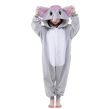 Kigurumi-pysjamas Elefant Onesie-pysjamas Kostume Polar Fleece Grå Cosplay Til Barne Pysjamas med dyremotiv Tegnefilm Halloween Festival