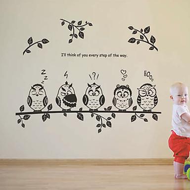 Tegneserie Wall Stickers Fly vægklistermærker Dekorative Mur Klistermærker,PVC Materiale Kan fjernes Hjem Dekoration Vægoverføringsbillede