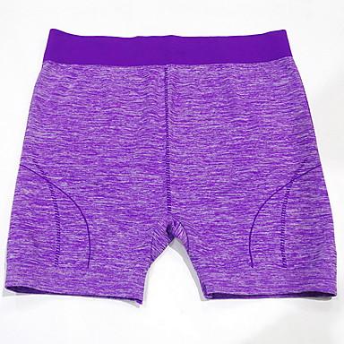 Mulheres Shorts de Corrida Respirável Confortável Calças para Exercício e Atividade Física Corrida Algodão Náilon Chinês Solto Roxo