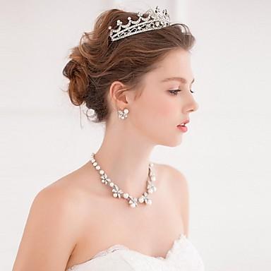 Legering tiaras hikinauhat Hiustyökalu Kranssit 1 Bruiloft Speciale gelegenheden  Causaal Helm