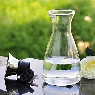 1400ml glas filter tekande koldt vand flasker kaffekande med låg