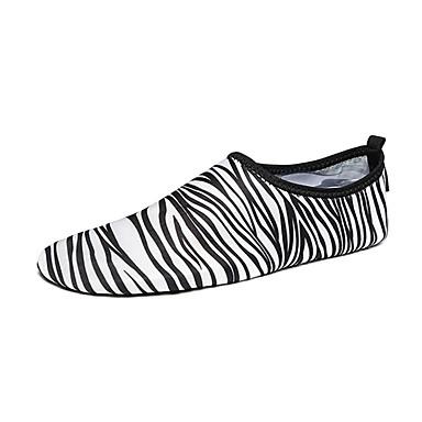 Loafers og Slip-ons-Stof-Komfort-Dame-Sort og Hvid-Sport-Flad hæl