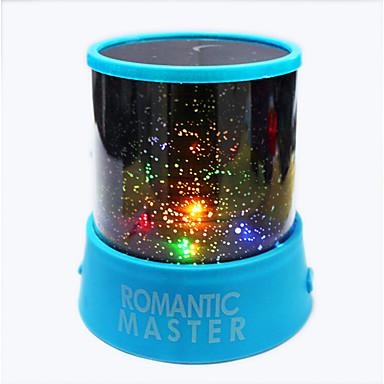 6pcs stjernehimmel nattehimmelen projektor fargerike ledet nattlys (tilfeldig farge, drevet av 3 AA-batteri)
