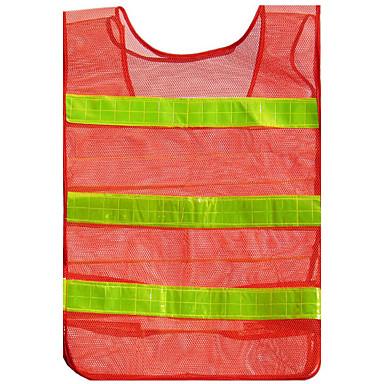 vermelho-alaranjado mais espessa malha seção de malha reflexiva colete colete de segurança de tráfego roupas aviso roupas