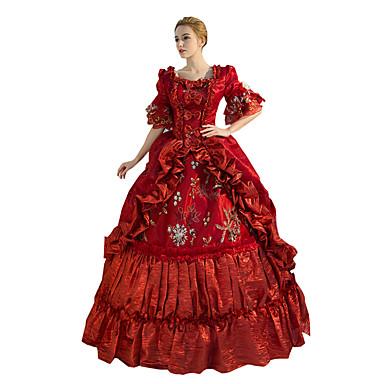 Gotisk Lolita Steampunk® Victoriansk Blonde Satin Dame Kjoler Cosplay Lang Længde