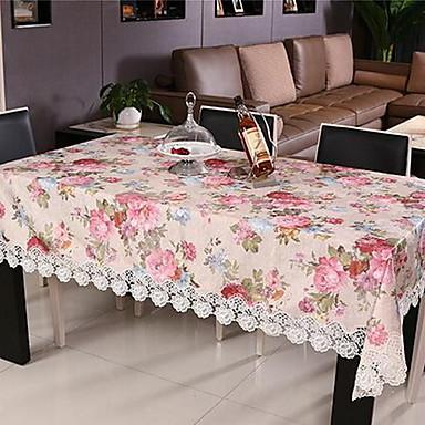 Rechteckig Blumen Mit Mustern Tischdecken , Polyester Stoff Innendekoration