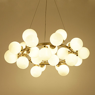 Cluster Pendant Light Ambient Light Electroplated Metal Glass Mini Style  110 120V / 220 240V Bulb Included / G4