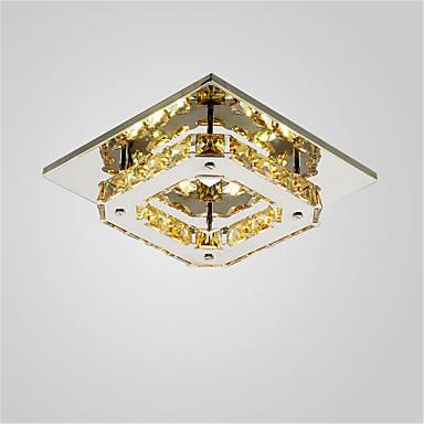 CXYlight Montagem do Fluxo Luz Ambiente - Cristal, Estilo Mini, LED, 90-240V, Branco Quente / Branco, Fonte de luz LED incluída / 10-15㎡