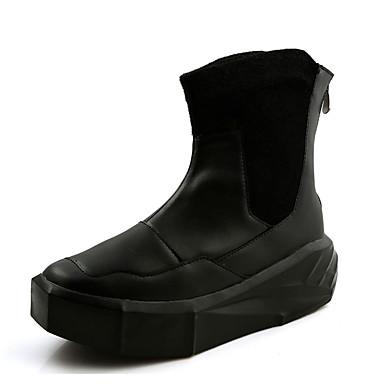 Herrn Schuhe Baumwolle Herbst Winter Komfort Stiefel für Normal Weiß Schwarz