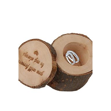1 Stykke/Sæt Gave Til Gæster Holder-Cylinder Træ Gavebokse Ikke-personaliseret